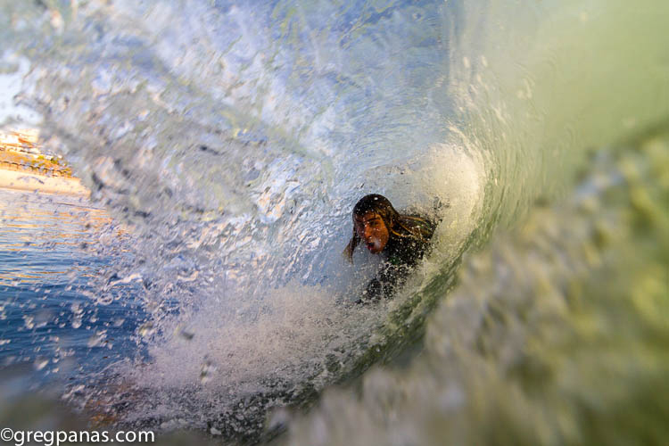 barrel closing in - San Clemente, California
